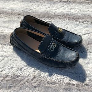 Cole Han Size 8.5 Blue Shelby Driving Loafers